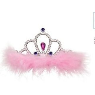 Indiagiftcart Crown with Feather-Light Pink
