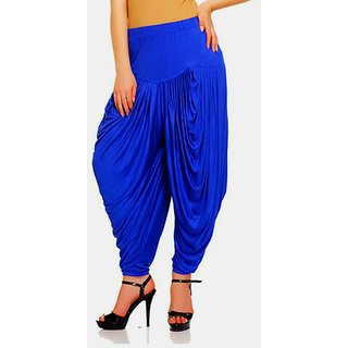 Women,Royal Blue patiala Dhoti salwar