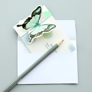 Stereo Butterfly Card Paper Latter Pad