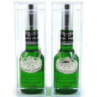 Brut Glass Perfume Of 100 ml Edt (Set Of 2 )