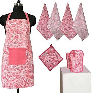 Lushomes Colorful Printed 2 in 1 Stylish Reversible Apron Set ( 1 ...