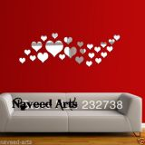 Wall Stickers - Wall Decal - 3D Home Decor - Acrylic - Valentine Love Hearts