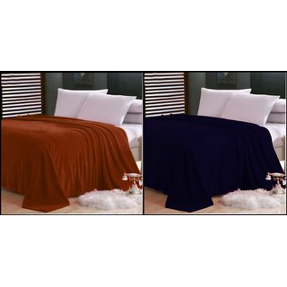 ShopSince Double Polar Fleece Blanket Set of 2 - 01