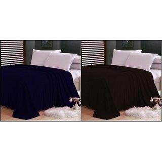 ShopSince Double Polar Fleece Blanket Set of 2 - 05