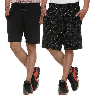 Vimal-Jonney Cotton Blended Printed Shorts For Men (Pack Of 2)