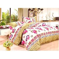 Furnix Platinum Double Bed Sheet With Two Pillow Covers D.No. 3160