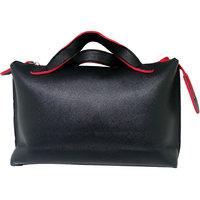 Tuelip Black Women Fashion Zipper Handle Hand PU Bag Fo