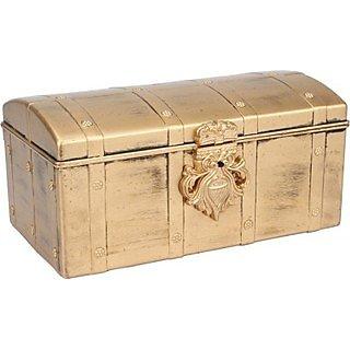 Tuelip Antique Pitara Jewellery  MakeUp Vanity Box - Golden