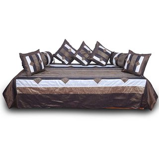 Jaipuri Silk Dewan Cushion Bolster 8 Piece Set 309