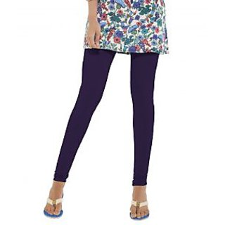 Go Colors Blue Cotton Lycra Solid Churidar