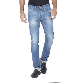 Flying Machine Slim Fit Men's Light Blue Jeans