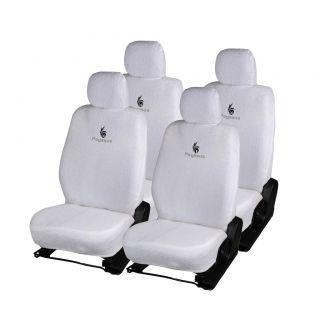 Pegasus Premium White Cotton Car Seat Cover For Chevrolet Spark