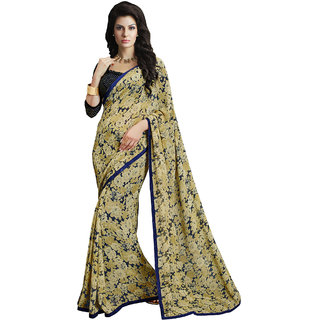 Sareemall Multi Georgette Saree with Unstitched Blouse