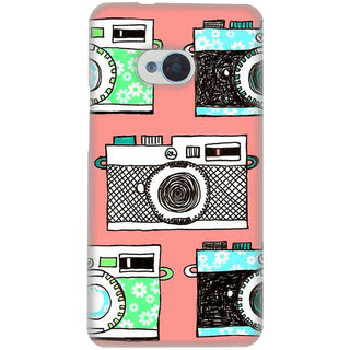 Pick Pattern Back Cover for HTC One