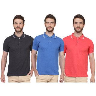 SayItLoud Men's Polo T Shirt Pack of 3