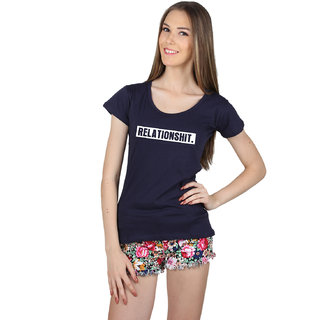 SayItLoud Women's Relationshit  Printed T Shirt