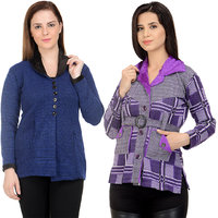 Christy World Solid Cardigan Set Of 2