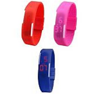 Steal Deal Combo Stylish led watches for kids (combo of 3 watches)