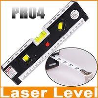 Laser Level With Tape Measure Pro 4 (1.5M / 4.92 Ft) / Level Bubbles W LED Light
