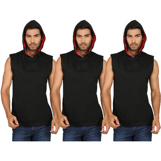 SayItLoud Men's Sleeveless Hoodie Combo