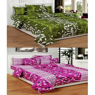 ShopSince Cotton Double Bedsheet set of 2 - 027034