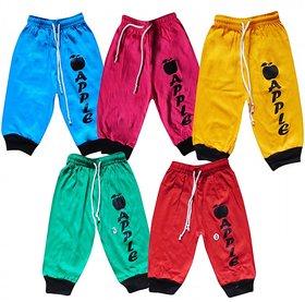 Shreeji Garments Poly Cotton Multicolour Rib and Capri (Pack of 5)