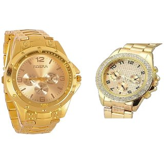 Golden Paidu and Rosra New Casual Analog Watch For men Combo of 2