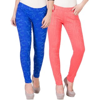 American-Elm Women's Printed Jegging-Pack of 2