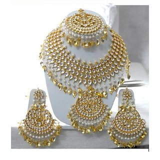 6093f565d00 Buy Silver or Gold Kundan jewellery On order Online @ ₹53000 from ...