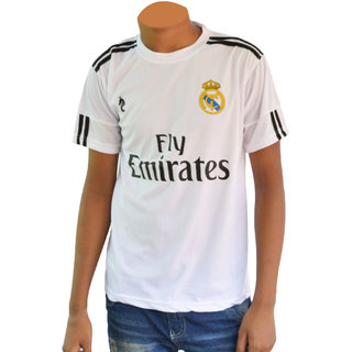 Dry Fit Real Madrid Club Football Fan Half Sleeves Jersey