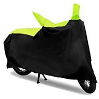 Ak Kart Black And Green Two Wheeler Cover For Honda Dream Neo
