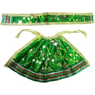 Beautifully Handmade Green Devi Mata Dress/Poshak (10x15 cm)