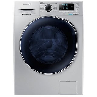 Samsung WD80J6410AS/TL Fully automatic Front loading Washing Machine  6 Kg, Silver