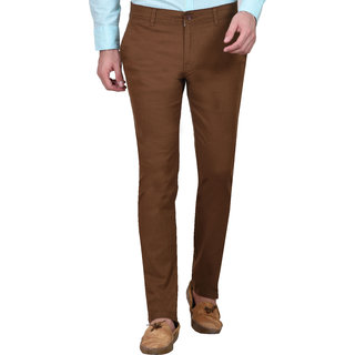 I M Young Mens Brown Slimfit Cotton Chinos Imy48494Brown