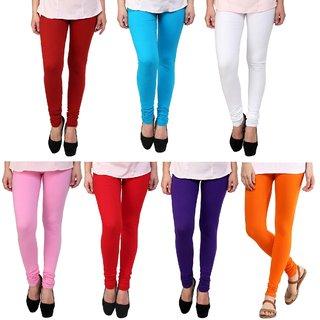 Stylobby Multicolor Leggings pack Of 7