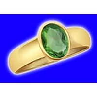 Panna Emerald Ring 7.0 Rati Silver/Gold Plated,Emerald Is The Gem Of The Planet