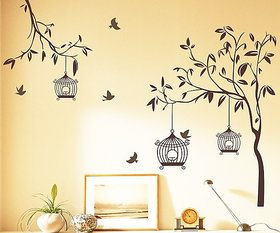 Walltola Wall Stickers Wall Stickers Brown Tree (140x110 Cm) - 1 Pc