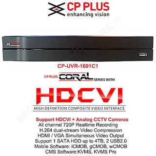 CP PLUS 16 Ch. 720P HDCVI DVR CP-UVR-1601C1
