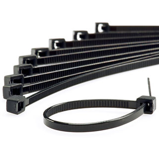 200 Pcs - 4INCH CABLE TIE 100 MM BLACK NYLON CABLE TIE