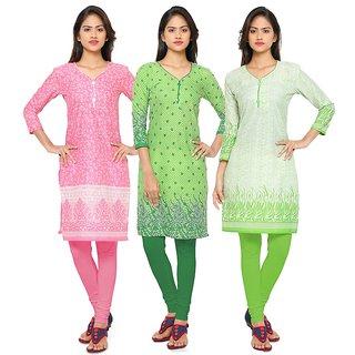 Thankar Multicolor Printed Cotton Stitched Kurti