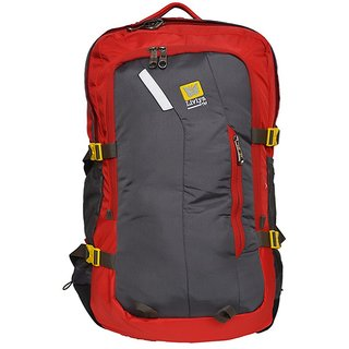 Liviya Grey  Red Polyester Hiking Bag RI334