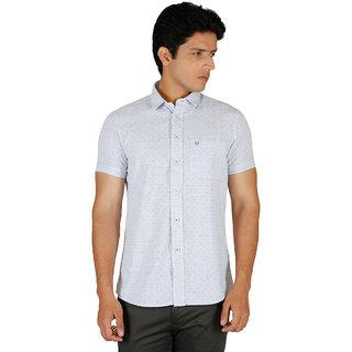 Integriti Half Sleeve Printed Light Blue Men'S Shirt