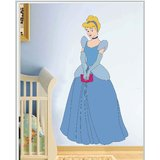 Gloob Decal Style Cinderella Wall Sticker (29*56)