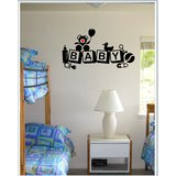 Gloob Decal Style Baby Wall Sticker (30*17)