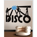 Gloob Decal Style Disco Wall Sticker (48*31)
