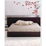 Gloob Decal Style Floral Wall Sticker (14*28)