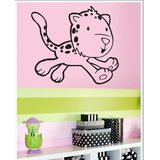 Gloob Decal Style Running Cat Wall Sticker (32*28)