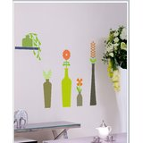 Gloob Decal Style Vases Wall Sticker (54*54)