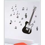 Gloob Decal Style Guitar Wall Sticker (64*48)