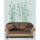 Gloob Decal Style Bamboo Wall Sticker (44*48)